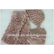 100% cashmere scarf glove and hat