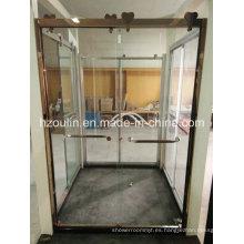 Ducha Puerta de vidrio con rodillo grande de acero inoxidable (SD-502)
