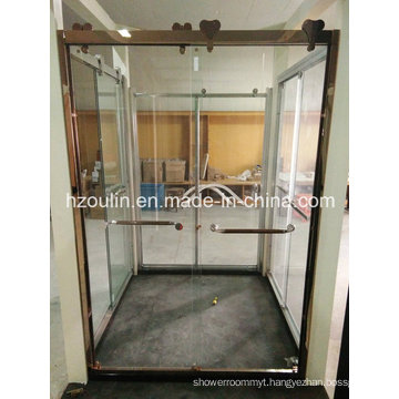 Shower Glass Door with Big Stainless Steel Roller (SD-502)