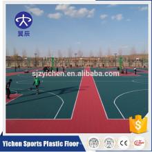 Pavimentos esportivos ao ar livre durável pp intertravamento piso de esportes