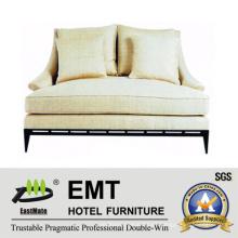 Diseño agradable sofá doble vendedor caliente fijado para el dormitorio de la sala de estar del hotel (EMT-SF26)