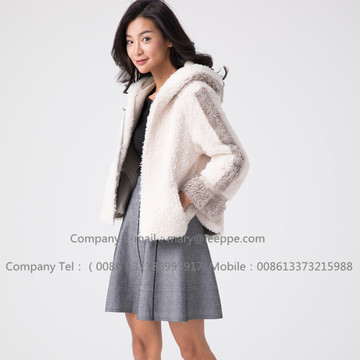 Veste courte en peau de mouton mérinos Winter Lady