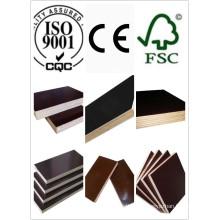 1250 * 2500 Tamaño Huabao de alta calidad marina de madera contrachapada película marrón