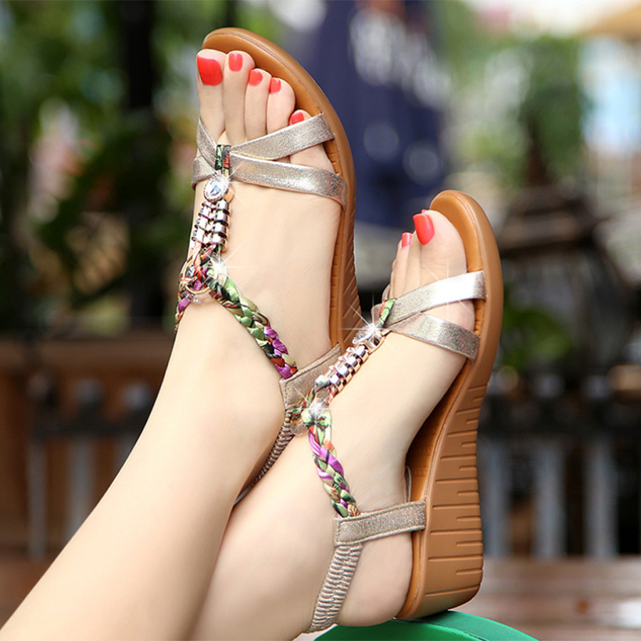 Beach Wedge Heel Sandals