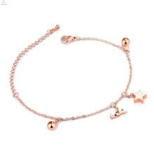 Alabama Großhandel neue Design Damen Charm Armband, Mädchen Chunky Phantasie Schmuck Rose Gold Glücksbringer Armband