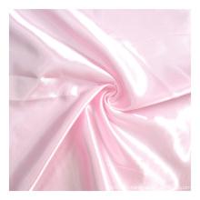 In stock wholesale taffeta 100% polyester shinning satin fabric for lining garment