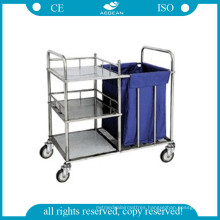 AG-Ss010 CE Approved High Qualtiy Ss Linen Trolley