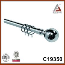 C19350 hot sale chrome curtain rod finials,home decor double single rail curtain rod accessories