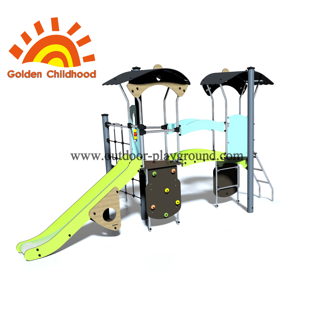 Panel Climbing Slide Outdoor Playground Playset For Children