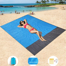 Large beach blanket folding mat foldable