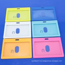 Soporte de tarjeta de identificación de plástico duro de alta calidad