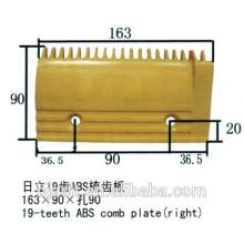 19 dentes ABS, Placa de Combate de Escada Rolante para Peças de Escada Rolante