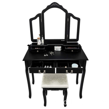 Black Vanity Makeup Dressing Table