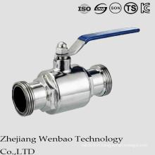 Valve à tournant sphérique de filetage moyen de la température 2PC sanitaire pour l'eau