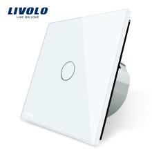 Livolo Электрический Выключатель Панели ЕС стандарт Сухой Контакт Постоянного Тока Сенсорный Выключатель Настенный Светильник 24 В