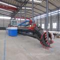 Draga de succión con cortador de arena de río de 10 pulgadas para depósito / maquinaria de ingeniería