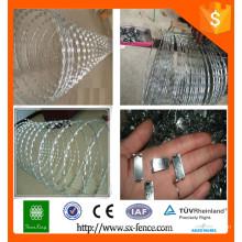 Razor Wire Gefängnis Zaun / Rasiermesser Stacheldraht Zaun Verkauf in hoher Qualität
