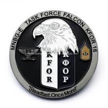 Pièce commémorative militaire faite sur commande de 3D avec l'émail mol