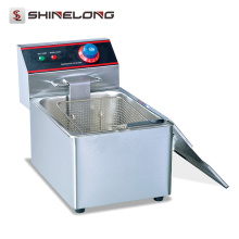 Commercial Stainless Steel 1-Tank and 1-Basket Electric Fryer Restaurant Equipment Commercial Deep Fryer