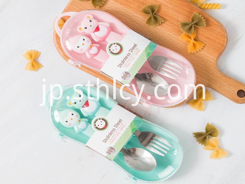Baby training Spork with box