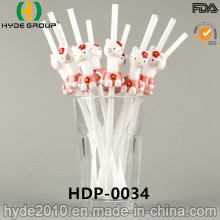 PP Folding Plastic Drinking Straw with Doll (HDP-0034)