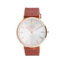 Venda quente de couro genuíno relógio de pulso de quartzo