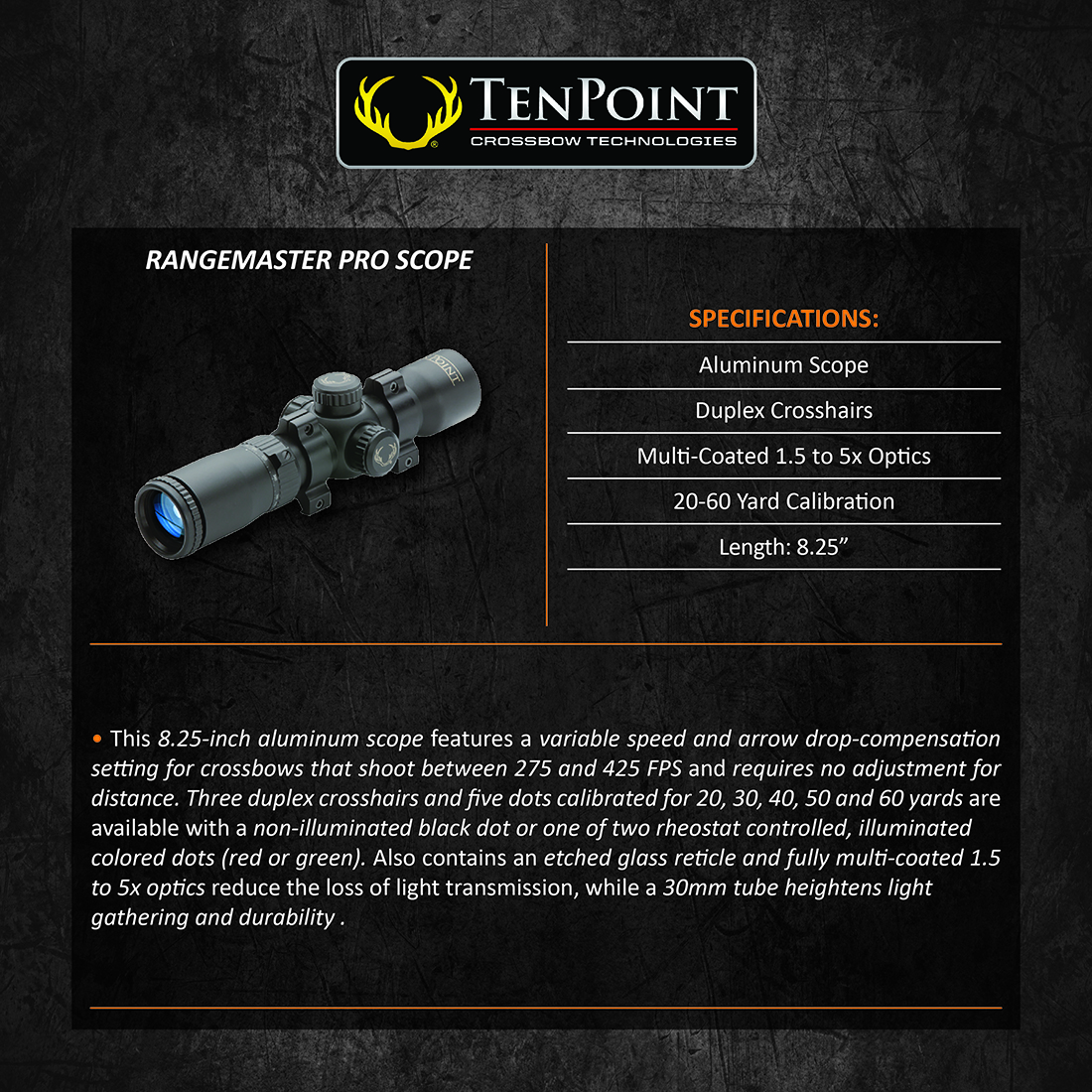 TenPoint_RangeMaster_Pro_Scope_Product_Description