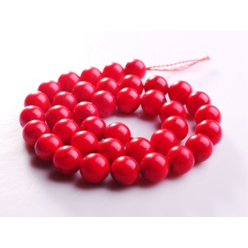 12MM Round Red Coral Gemstone Beads for DIY Jewelry