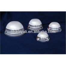 domed white cosmetic plastic acrylic jars for cosmetics packaging 5ml 15ml 30ml 50ml