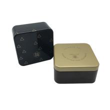 Großhandelsquadrat-Form-Metallschokoladen-Kasten mit kundenspezifischem Drucken