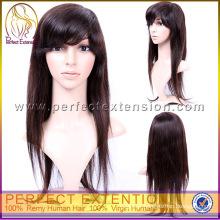 For White Woman Brazilian Kinky Straight Remy Hair Fashion Short Wigs