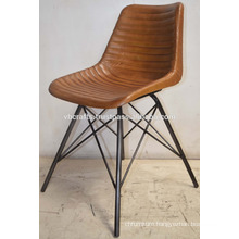 Industrial Leather Metal Base Chair