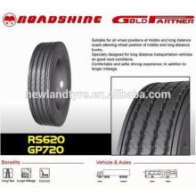 La marca Roadshine cubre neumáticos radiales de camión 1000-20 neumáticos