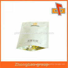 China manufacturer three layer lamination stand up white kraft paper bag for coffee with zippper