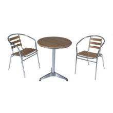 Outdoor Furniture 3pc Imitation bois chat ensemble