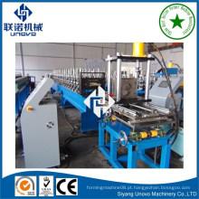 Estrutura de máquina de formação de malha de metal com perfuração online