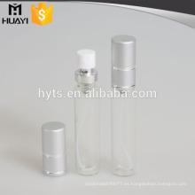 Tubo de cristal barato del perfume al por mayor 12ml / 15ml / 20ml con el casquillo de aluminio de la astilla