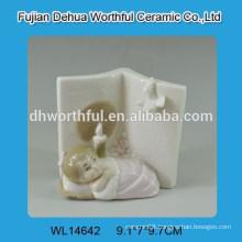 Cutely baby shape white ceramic decoration