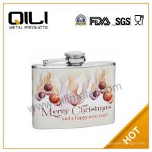 Frascos de alta calidad de 4 oz frasco de la cadera-Navidad regalo