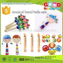 2016 Kit de instrumentos musicais para crianças coloridas promocionais Ritmo Stick Educativo Brinquedo musical de madeira para crianças