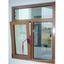 Inclinaison en aluminium dans la fenêtre Fenêtre en aluminium à guillotine