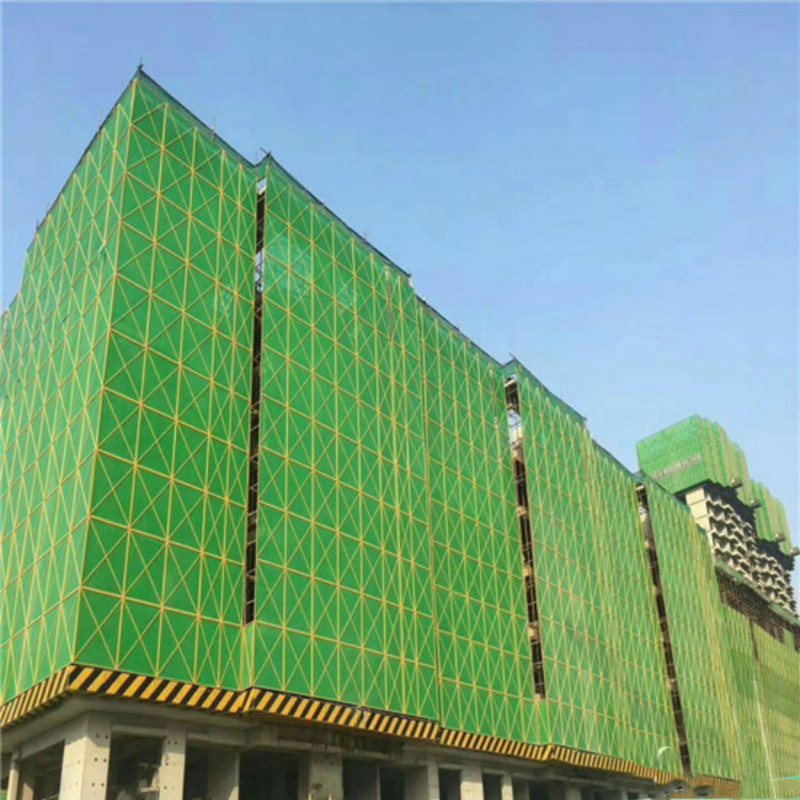 Mesh tarps for construction