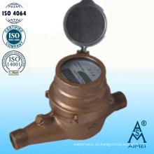 Medidor de agua fría Multi Jet tipo seco latón