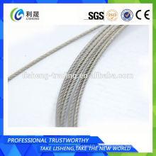 Cuerda de alambre de alto rendimiento 6x19 Fc