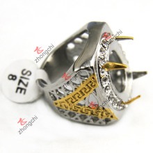 Atacado Indonésia 316L anéis de aço inoxidável para homens jóias (SSR-07)