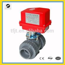 UPVC DN50 / 63mm AC220V CTF-002 válvula elétrica On-Off para projeto de tratamento de água de grau industrial