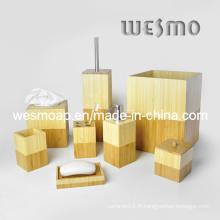 Ensemble d'accessoires de bain en bambou (WBB0610A)