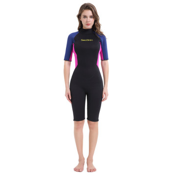 Seaskin Womens Geri Fermuar Shorty Neopren Wetsuits