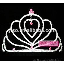 Linda corações amante jóias tiara