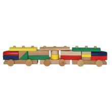 Bausteine montieren Holz Zug Spielzeug